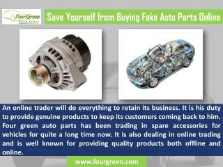 Save Yourself from Buying Fake Kia Auto Parts Online