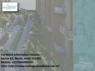 The Best Luxurious Apartment in Mahagun Moderne Call us   91 9560090033