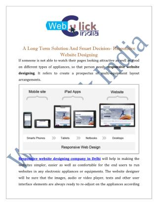 Responsive Website Designing Company in Delhi | Services India