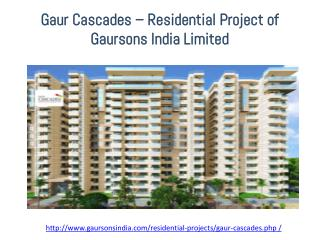 Ready to Move 2/3/4 BHK Apartments in Gaur Cascades Rajnagar Extension