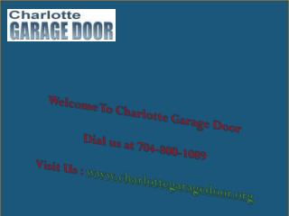 TTop Garage Door Repair in Charlotte NC