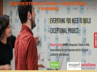 Industrial Training in Chandigarh | Web Designing industrial training