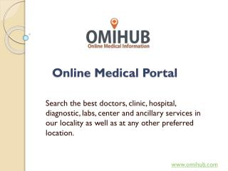 Omihub – A trustable source for Online Medical Information