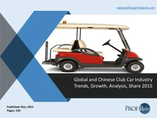 Global and Chinese Club Car Industry Trends, Growth, Analysis, Share 2015
