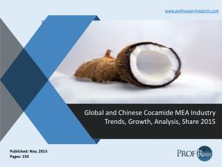 Global and Chinese Cocamide MEA Industry Trends, Growth, Analysis, Share 2015