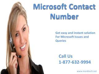 Microsoft phone number 1-877-632-9994 tollfree USA & Canada