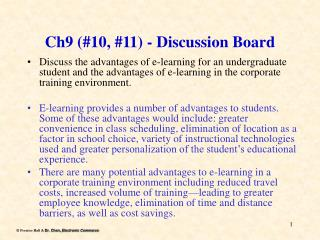 Ch9 10, 11 - Discussion Board