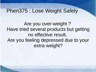 Phen375 Best Weight Loss Pills