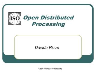 Open Distributed Processing