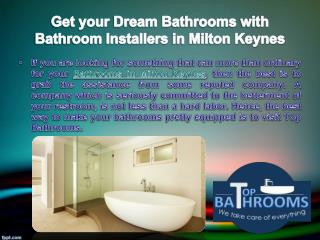 Get your dream bathrooms with bathroom installers in Milton Keynes
