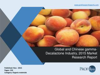 Gamma-Decalactone Industry Size, Share, Trends 2015 | Prof Research Reports