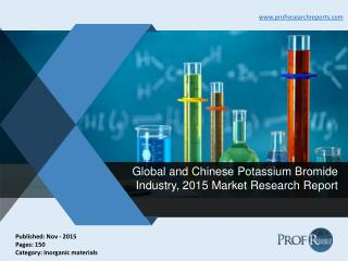 Potassium Bromide Industry Size, Share, Analysis 2015 | Prof Research Reports