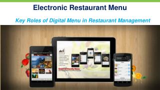 Electronic Restaurant Menu App