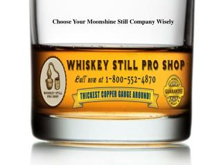 Best Moonshine Stills Company
