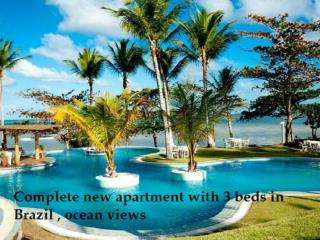 Complete new apartment with 3 beds in Brazil with   ocean views