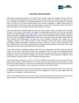 Skilled Locksmiths In Toronto - LocalProLocksmith