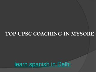 Top upsc coaching in mysore