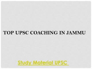 Top upsc coaching in jammu