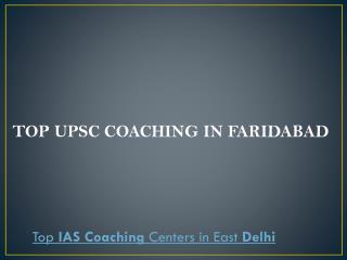 Top upsc coaching in faridabad