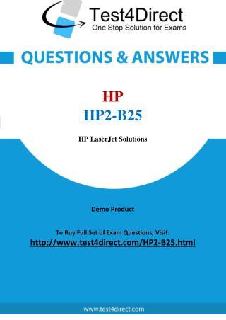 HP HP2-B25 Exam Questions