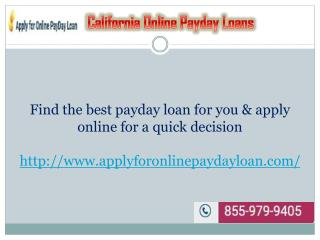 California Payday Loan Lenders