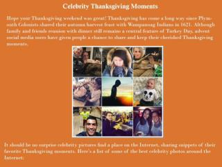 Celebrity Thanksgiving Moments