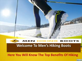 Men's Hiking Boots: Figure Out The Top Collections!