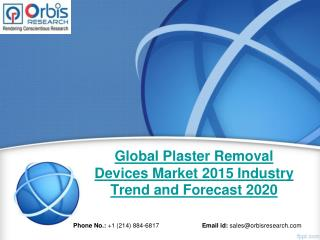 Plaster Removal Devices  Market - Global Market Development Analysis & Industry Overview