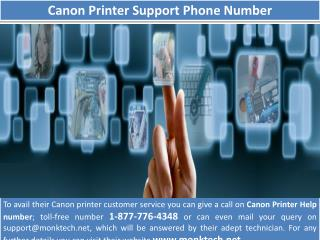 Canon tech support 1-877-776-4348 number toll free