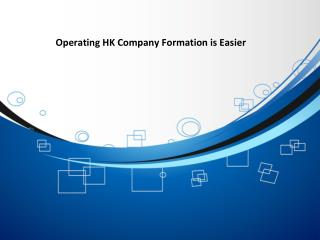Operating HK Company Formation is Easier