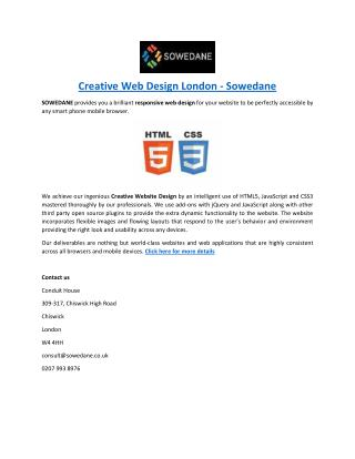 Creative Web Design London - Sowedane