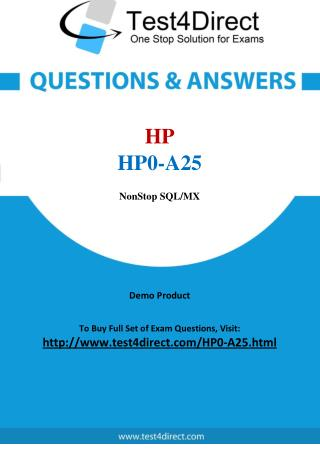 HP0-A25 HP Exam - Updated Questions