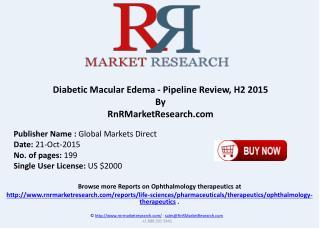 Diabetic Macular Edema Pipeline Review H2 2015
