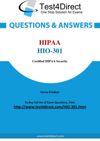 HIPAA HIO-301 Exam Questions
