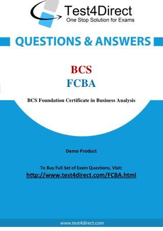 BCS FCBA Test Questions