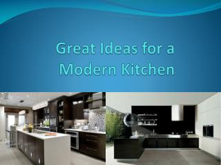Great Ideas for a Modern Kitchen
