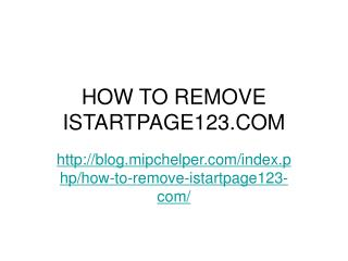How to Remove Istartpage123.com