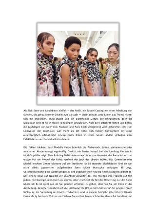 FASHION-Die Suche nach Vielfalt während Mode-Monat