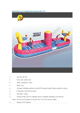 Basketball court inflatable sports games Sp1-013