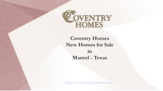 Search for New Homes in Manvel with Elegant Designs - TX