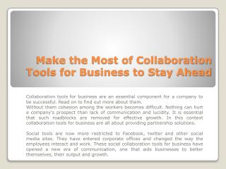Collaboration Tools For Business, Enterprise Communication Tools