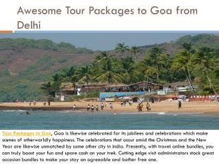 Awesome tour packages to goa from delhi
