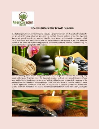 Effective natural hair growth remedies