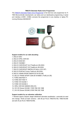 TMS370 Odometer Radio Immo Programmer