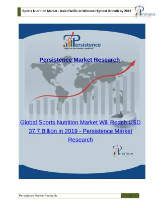 Global Sports Nutrition Market Will Reach USD 37.7 Billion in 2019
