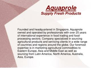 Meat Suppliers, Dairy Products, Fishing Services Singapore