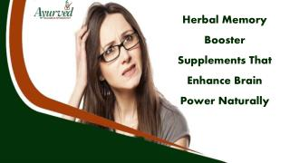 Herbal Memory Booster Supplements That Enhance Brain Power Naturally