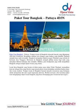 Berwisata Di Bangkok Pataya