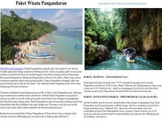 Berwisata di Pangandaran