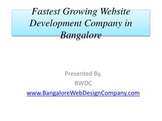 Fastest Growing Website Development Company in Bangalore